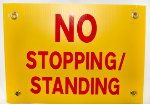 No Stopping Standing Sign